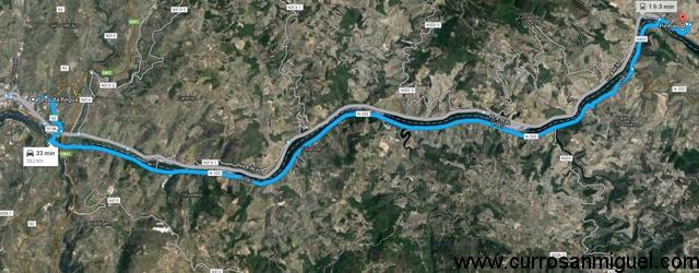 Y este es el recorrido ganador. En Portugal, aquí al lado de casa.