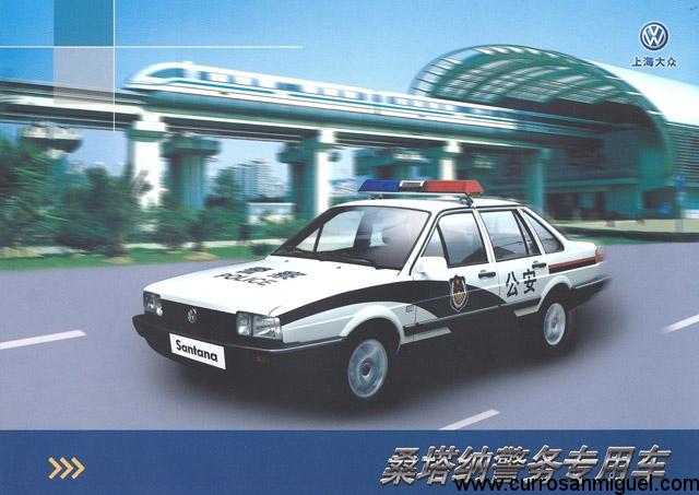 En China el Santana ha sido frecuentemente usado por la policía. Aquí, el caso de Shanghai