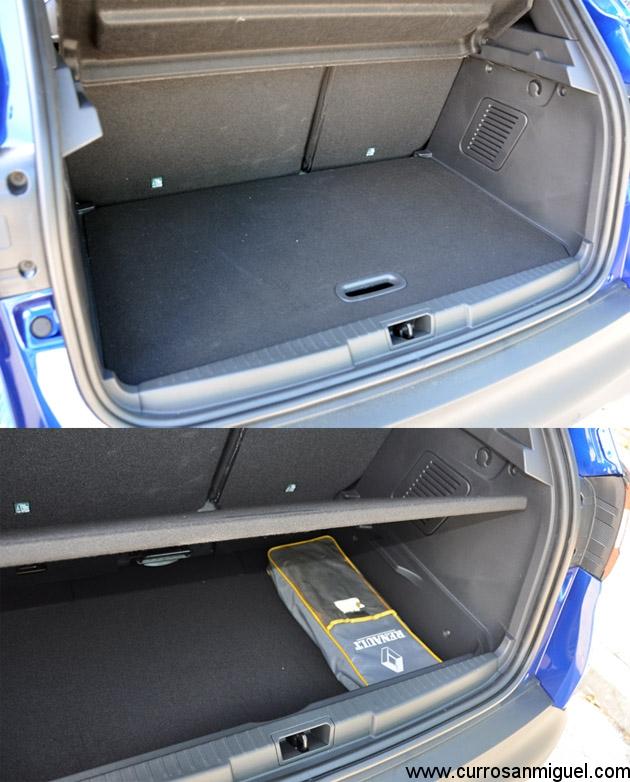 El maletero es correcto, tiene doble fondo y las plazas delanteras se pueden abatir y/o deslizar