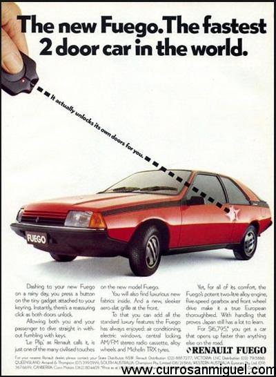Apertura remota de puertas denominada Plip por la marca. Toda una chulada para primeros de los 80.