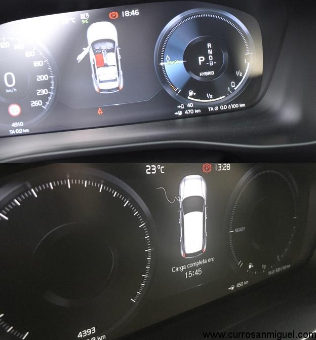 El cuadro nos da una orientación de lo más exacta de cuándo tendremos nuestros 40 kms de autonomía eléctrica listos de nuevo.