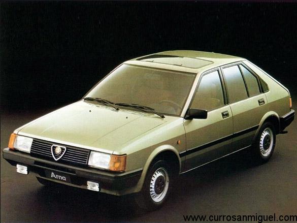 Esto es un Alfa Romeo Arna. O sea, un Alfa 33 fabricado por Nissan para vender en algunos mercados.