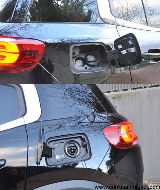 ¿Dos depósitos al estilo de los Jaguar de antaño? No, toma de corriente y boca de llenado.