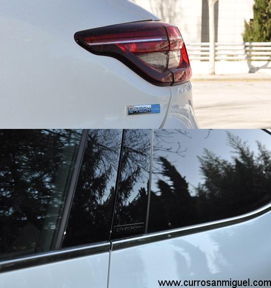Esto es lo que, visto desde fuera, distingue un Clio E-Tech de cualquier hermano de gama.