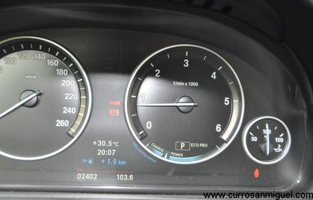 Tras casi 104 kms en modo ED sólo conseguimos una autonomía extra de 1.9 kms.