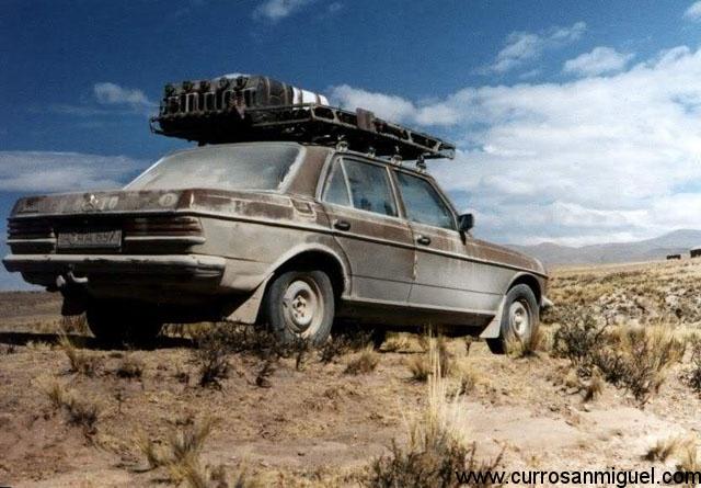 Gracias su robustez, en algunos países el W123 se considera un auténtico SUV...