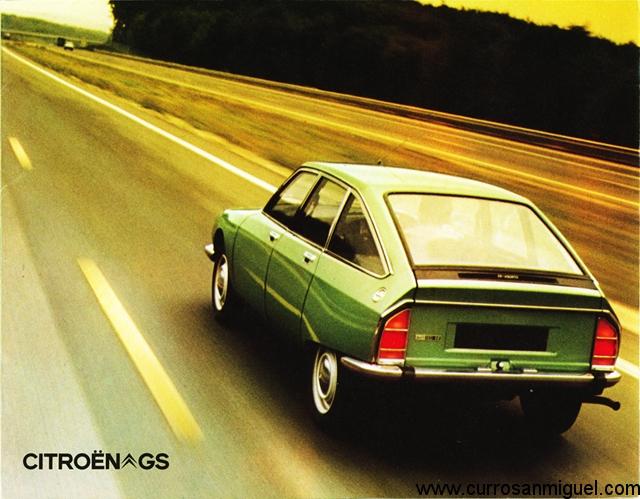 El Citroen GS se vendía como una rápida y cómoda berlina...