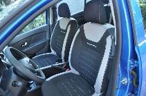 Los asientos son cómodos y el toque Stepway le da ago más de gracia a un tapizado no más que correcto