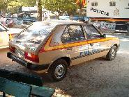 El icónico Talbot Horizon de la Policía Nacional hasta tiene su sitio en el desfile de la Fiesta de la Hispanidad