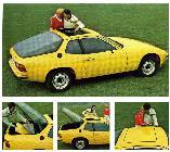 Fiel a su espíritu targa, Porsche también ofrecía un gran techo desmontable en su 924.