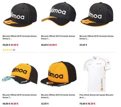 Merchandise Fernando Alonso F1